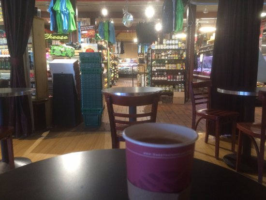 Ann Arbor, MI: Having coffee in the ground floor coffee shop. You also have to check the cool mugs in this shop