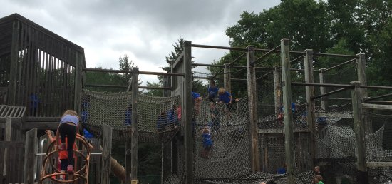 Plymouth, MN: Part of the extensive multi-level nets in which kids can climb