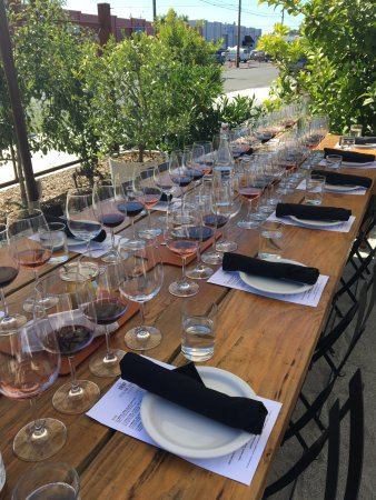 St Clair Brown Winery Beautifully set table & Beautifully set table - Picture of St Clair Brown Winery Napa ...