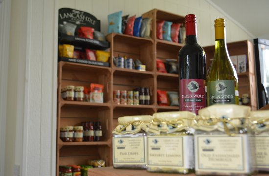 Cockerham, UK: Local produce on sale in our on-site shop