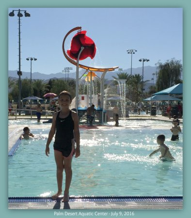 Palm Desert Aquatic Center - July 2016 - Showing two of the five pools.