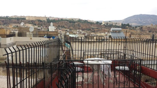 Pension Kawtar : View from one of the dining areas on the rooftop terrace