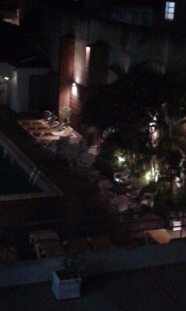 Gran Guarani Hotel: Vista a la zona de pileta desde la habitación
