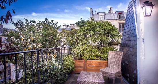 Hotel de l'Abbaye Saint-Germain : Duplex Suite with private terrace