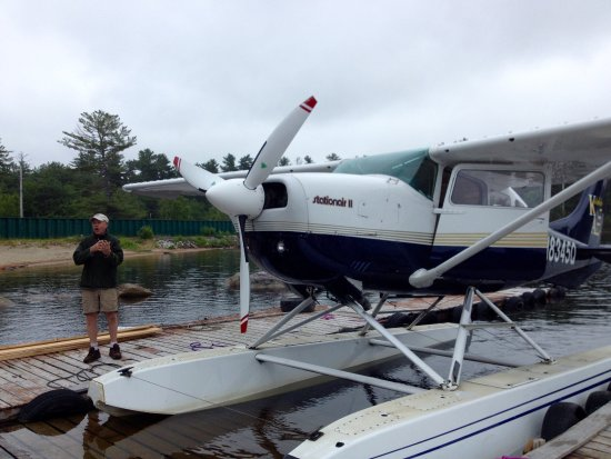 Millinocket, Мэн: Our transport to the wilderness camp!
