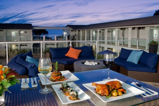 Del Mar, كاليفورنيا: Dining Patio with Ocean VIew