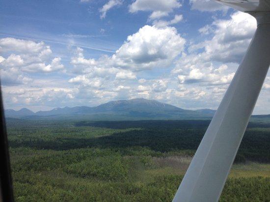 Millinocket, ME: View of Mount Katahdin from the plane