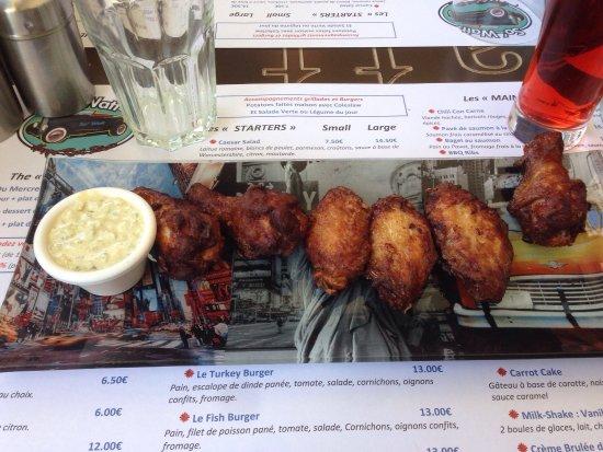 Le Thor, Frankrijk: Chicken wings