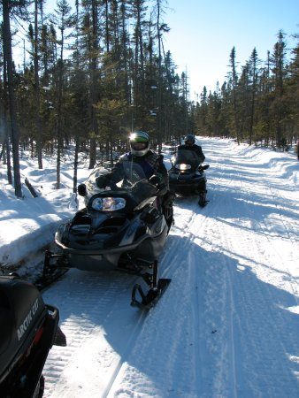 Trego, WI: Heartwood Snowmobiling