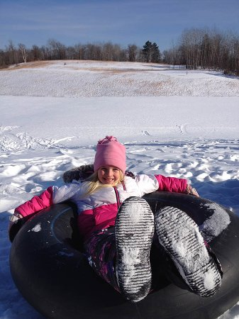 Trego, WI: Heartwood Snowtubing