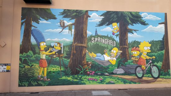 Springfield, OR: Simpsons Mural