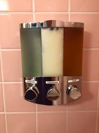 Holiday Music Motel: Shower- original soap dispenser