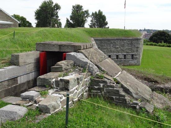 Oswego, NY: Blick auf den Wall