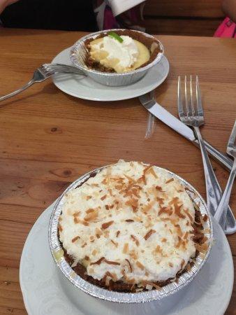 Chocolate Macadamia Nut Pie and Banana Cream Pie - Picture