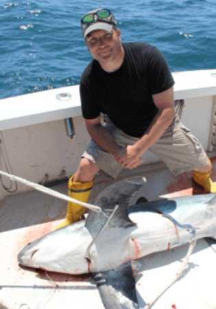 Westerly, RI: RI offshore shark fishing on Fish Trap.