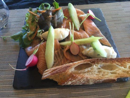 St. Gildas de Rhuys, Γαλλία: carpaccio de saumon