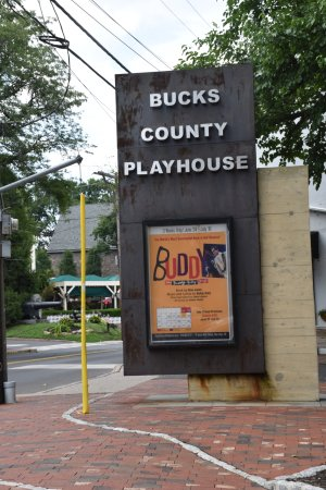 Bucks County Playhouse: Marque :  entrance sign