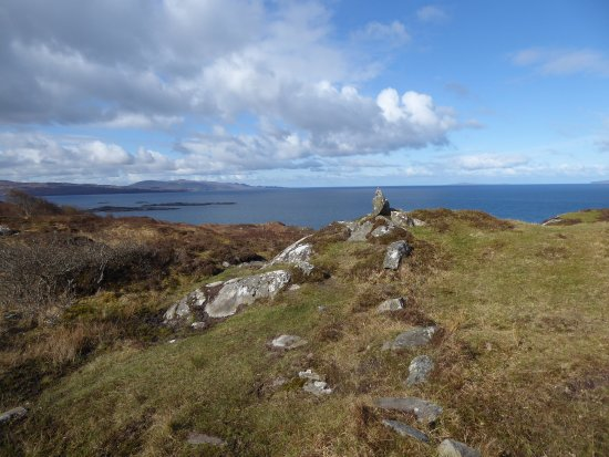 Glenuig, UK: View from the top of the hill