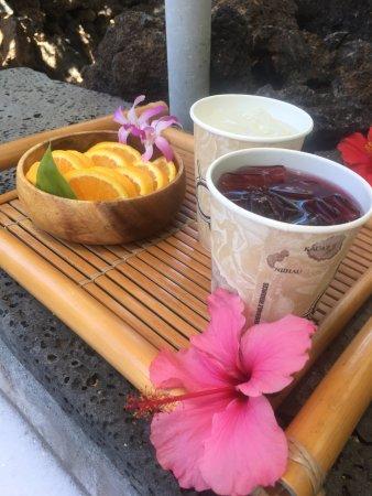 Mauna Lani Spa: Refreshments during the bath