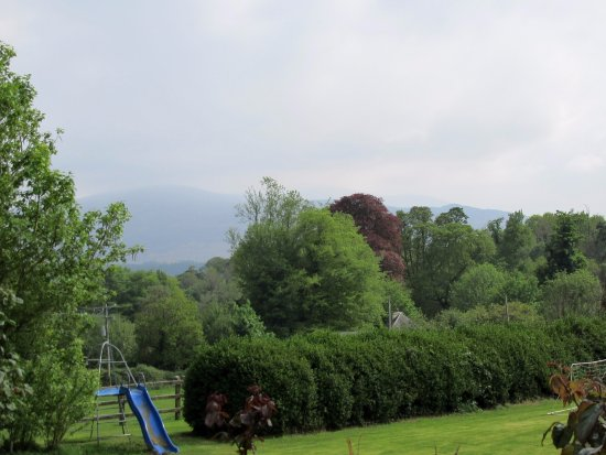 Carriglea House: Looking to the left of the property at a mountain range