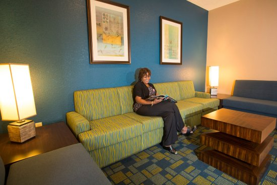 Rosen Inn International: Lobby Sitting Area With Guest