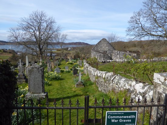 Arisaig, UK: Ruins of early 16th century chapel