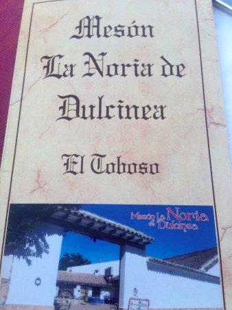 El Toboso, สเปน: Menú (portada)