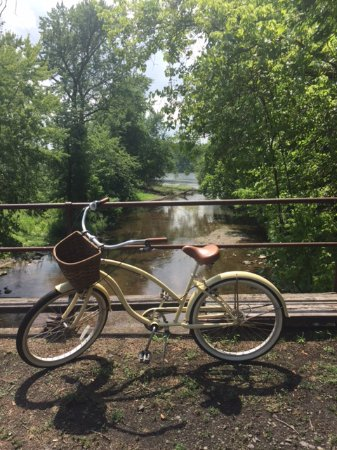 """Stockton, NJ: We brought our bikes & rode the """"toe path"""" into Lambertville for lunch"""