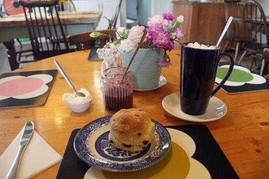 Kinlochewe, UK: Scone and Hot Chocolate