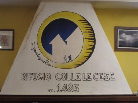 Arquata del Tronto, Italien: sala pranzo particolare camino