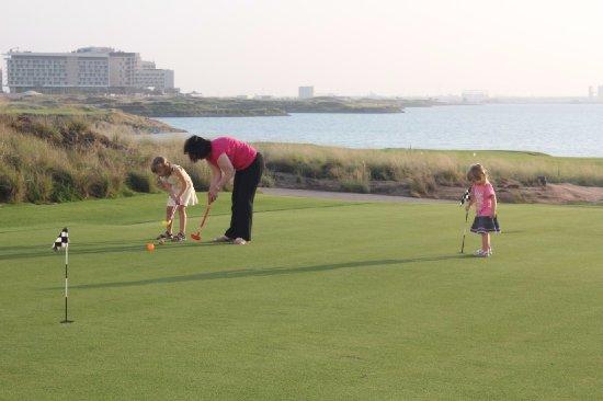 Yas Links Abu Dhabi: grandma had to play too.!
