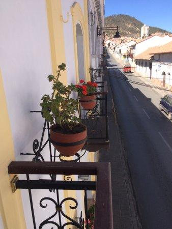 El Hostal de Su Merced: View from outside our little door patio