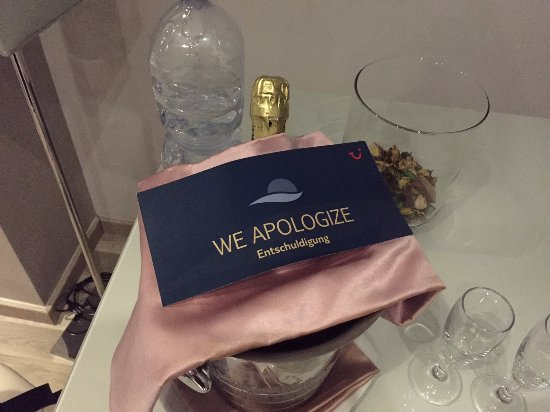 Tui Sensimar Grand Hotel Nastro Azzurro: After a terrible check in experience, they sent this.