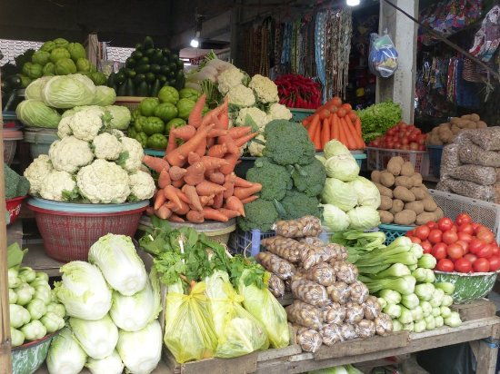 Bedugul, Indonésia: Fruits & légumes
