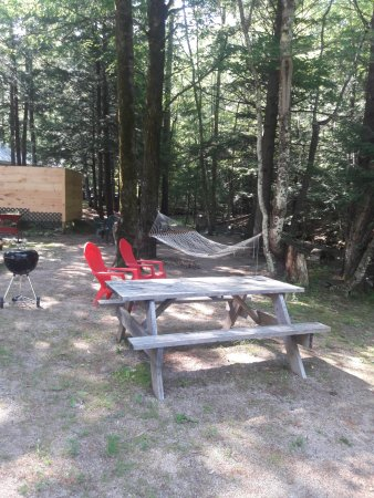 Tanglewood Motel and Cottages: rest area and grillin