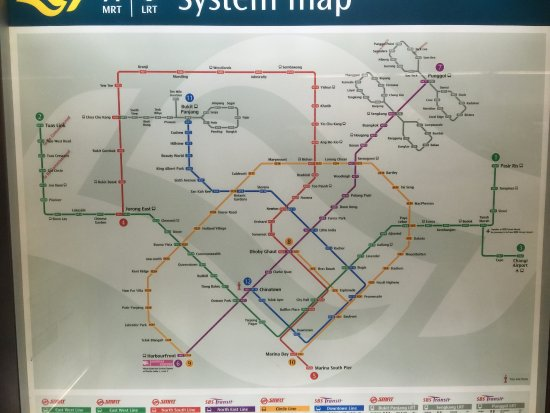 Map of the MRT stations throughout the country Picture of