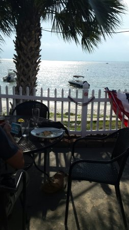 Gulf Breeze, FL: Salmon Windham and view from patio
