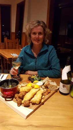 Kaka Point, New Zealand: Great seafood platter