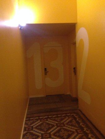 sinalização dos quartos.