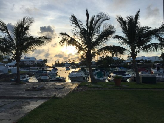 Flatts Village, Bermuda: Sunset view from Rustico