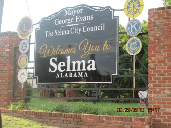 Sign near Edmund Pettus Bridge, Selma, Alabama
