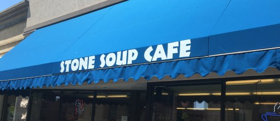 Stone Soup: The restaurant's outdoor awning.
