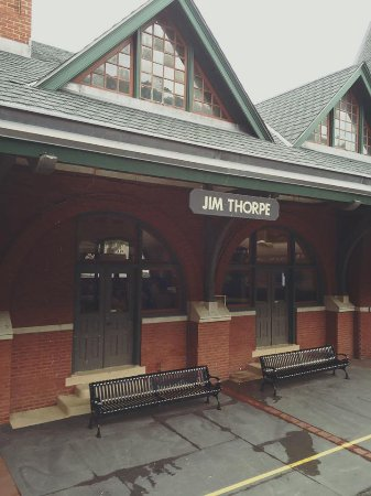 Leaving the station at Jim Thorpe
