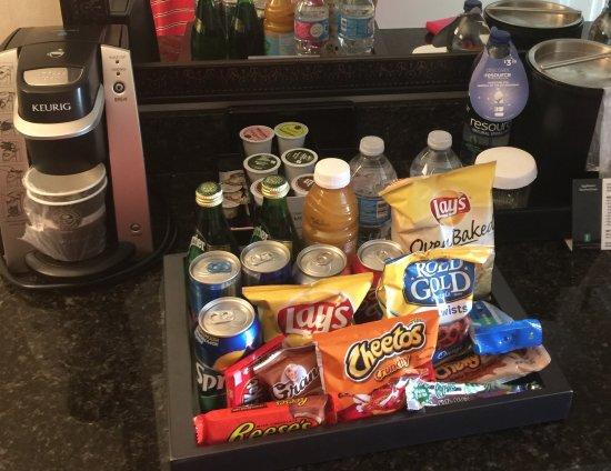 Brea, Kalifornien: The refreshment in the Premium suites
