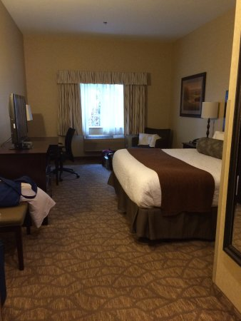 Forest Grove, OR: Roomy king room.