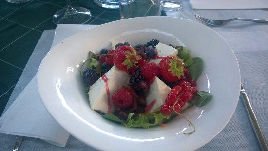 Almenno San Bartolomeo, İtalya: Verdura ai piccoli frutti di bosco