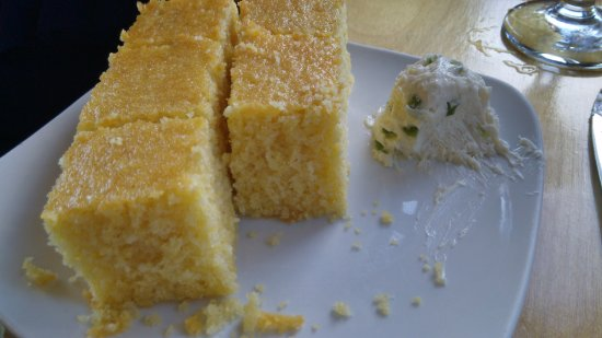 Fitchburg, WI: Cornbread with jalapeno butter