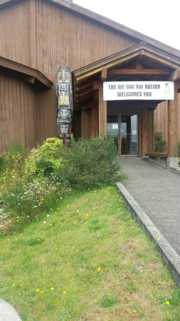 Entrance to the Kwagiulth Museum and Cultural Centre on Quadra Island BC