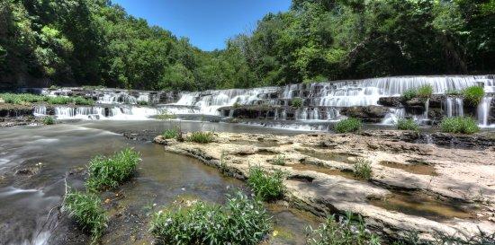 Burgess Falls State Park: First of the falls a Burgess Falls