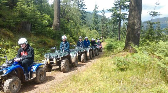 Argyll and Bute, UK: Quadbiking just up the road